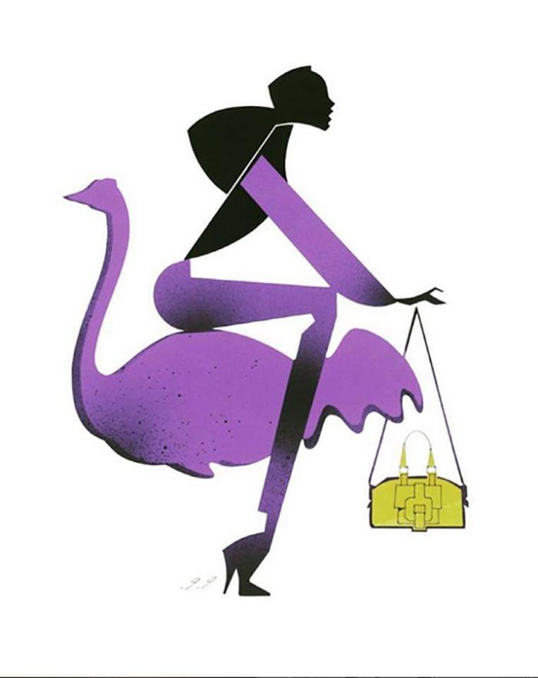 Illustratie van Piet Paris Beeld Piet Paris (@pietparisfashion)