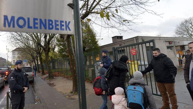 Terreurdreiging in Brussel: vandaag gingen de scholen weer open. Beeld PHOTO_NEWS