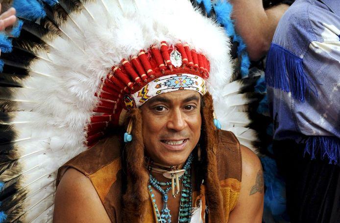 Felipe Ortiz Rose, van de Village People, had wel indiaans bloed. Zijn vader was een Lokota Sioux. © EPA