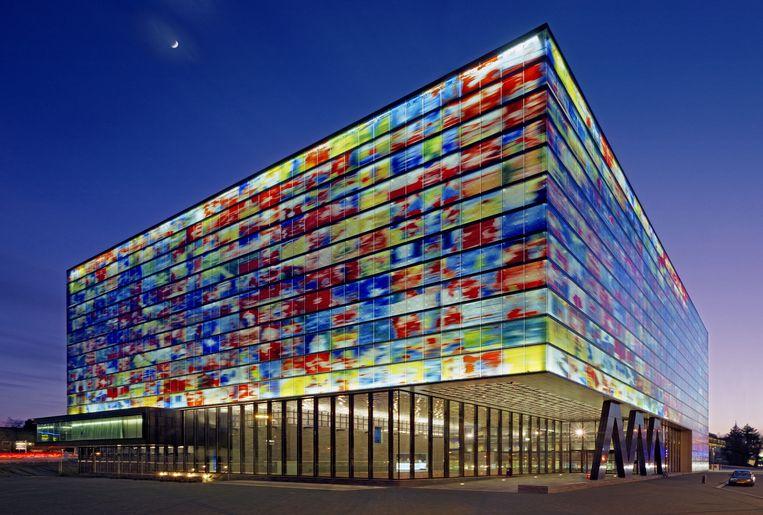 Instituut Beeld en Geluid in Hilversum. Beeld Jaap Drupsteen