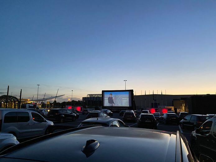 Drive-in openluchtcinema aan Flanders Expo.