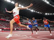 Nederland grijpt net naast medailles bij 4x400 meter gemengde estafette