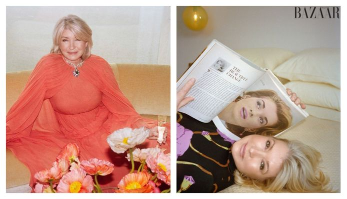 Martha Stewart schittert op 79-jarige leeftijd in het magazine Harper's Bazaar.