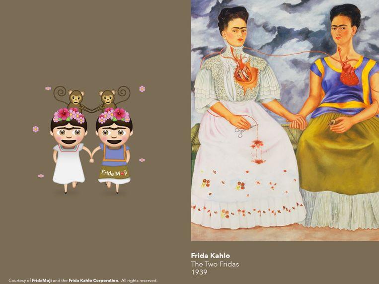 Las dos Fridas (1939), FridaMoji.  Beeld FridaMoji