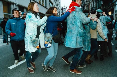 Foto van Brusselse studenten vierden 'St. V' vandaag