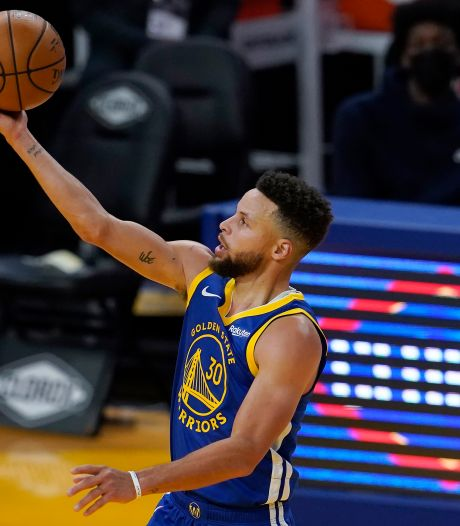 Curry op dreef voor Golden State Warriors