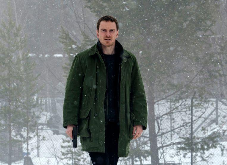 Michael Fassbender als inspecteur Harry Hole in 'The Snowman'. Beeld AP
