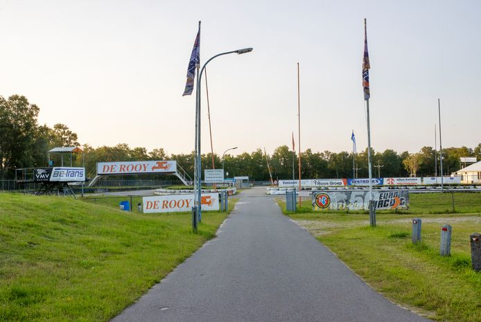 De entree van het rallycrosscircuit, deel van het Eurocircuit in Valkenswaard.