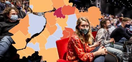 KAART | Coronabesmettingen opnieuw boven het gemiddelde, één gemeente in Oost-Nederland terug bij af