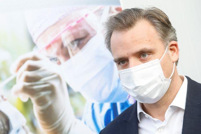 Philippe De Backer (Open VLD), ministre de la Task Force Shortages (responsable notamment de l'approvisionnement en tests).