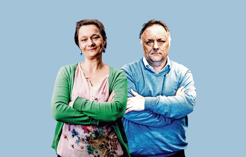 Erika Vlieghe en Marc Van Ranst. Beeld Tim Dirven