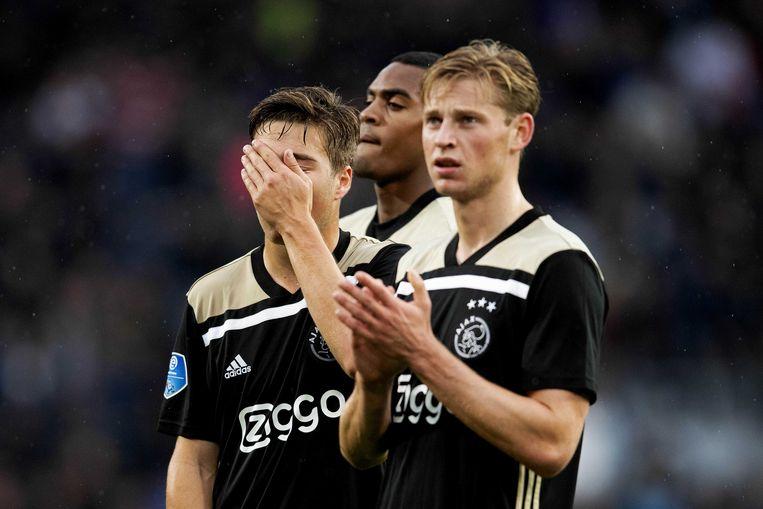 Carel Eiting en Frenkie de Jong ontgoochelden.