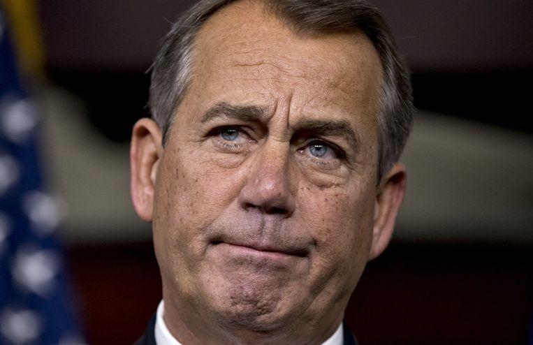 De Republikeinse leider John Boehner. Beeld ap