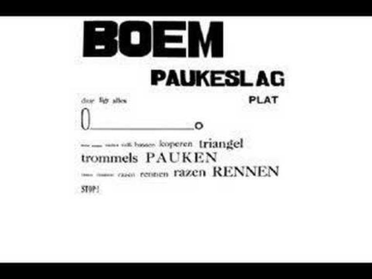 Het gedicht 'Boem paukeslag' van Paul van Ostaijen. Beeld