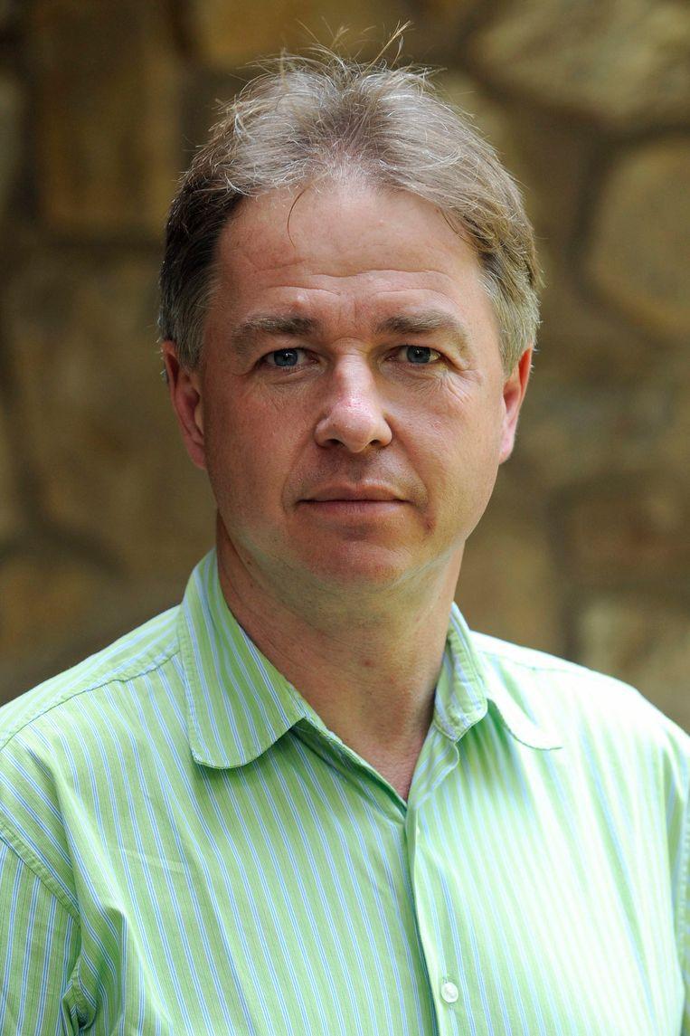 VRT-journalist Peter Verlinden en zijn gezin waren het slachtoffer van racistische vandalen. Beeld BELGA