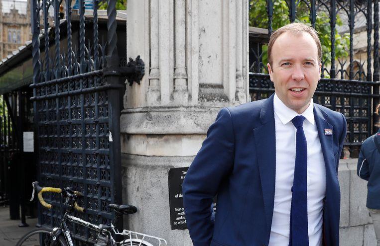 De Britse minister van Gezondheid Matt Hancock heeft zijn steun uitgesproken voor Boris Johnson om na Theresa May de Britse Conservatieven te gaan leiden. Beeld AP