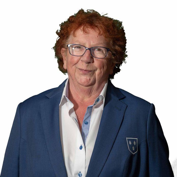 Lydia Markus fier in het clubkostuum van Rijsoord, dat ook op haar rouwkaart prijkte.