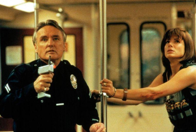 Dennis Hopper en Sandra Bullock in Speed van Jan de Bont. Beeld