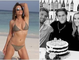 CELEB 24/7. Elizabeth Hurley geniet van de zon en de zoon van Reese Witherspoon en Ryan Phillippe is 18