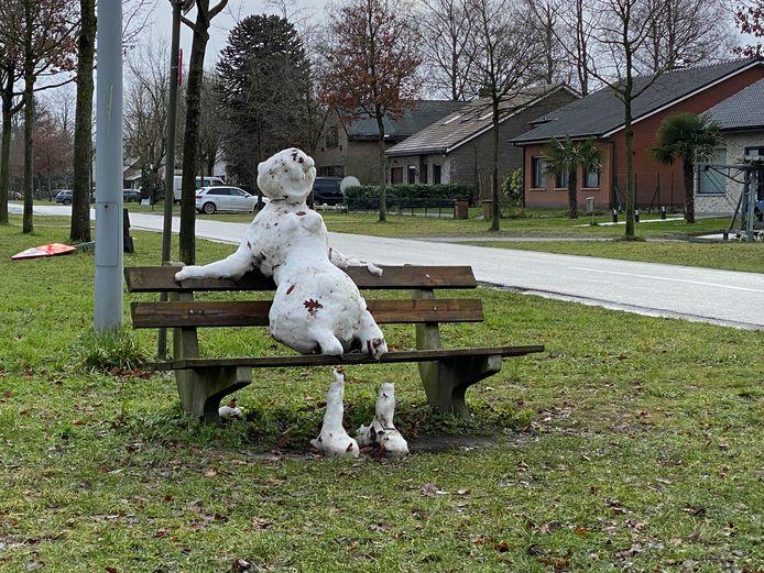 Een eenzame overlevende van de winterprk