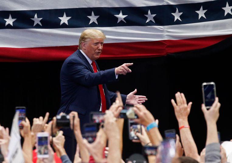 VS-president Donald Trump in Texas. Beeld EPA