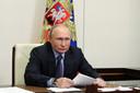 De Russische president Vladimir Poetin, die komende week voor het eerst een ontmoeting heeft met zijn Amerikaanse ambtsgenoot Joe Biden.