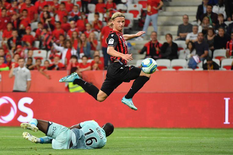 Kasper Dolberg.  Beeld AFP