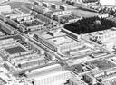 Een luchtfoto uit 1964 van de wijk Crabbehof.