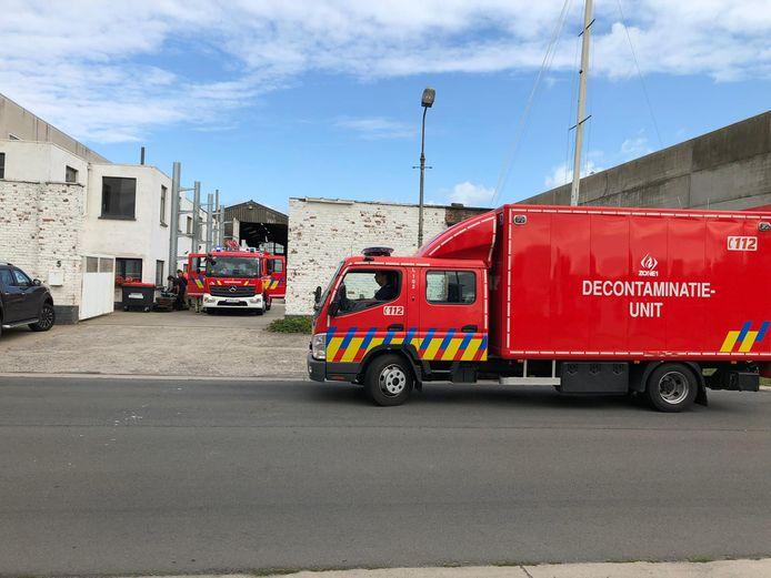 De Oostendse brandweer had de situatie snel onder controle.