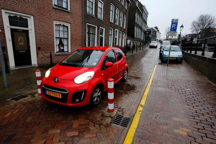 Paaltjes in het centrum van Schiedam
