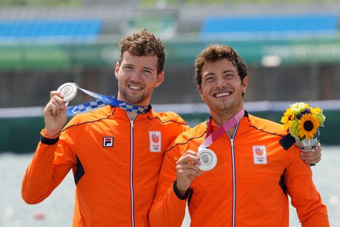 Zilver: Melvin Twellaar en Stefan Broenink (roeien, dubbeltwee, mannen)