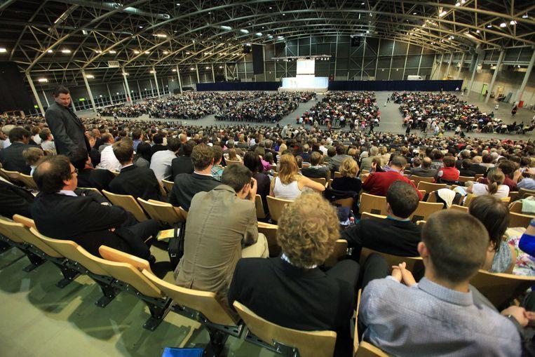 Een bijeenkomst van getuigen van Jehova