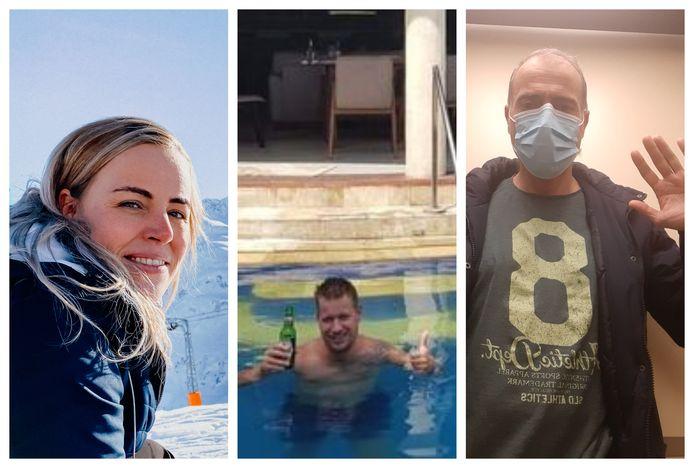 Sabine (links), Erwin (midden) en Roberto (rechts): Tukker ver van huis, maar met dezelfde beperkingen