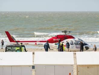 MUG-heli landt op strand van Blankenberge voor dronkenman