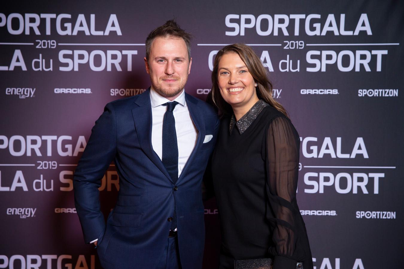 Evi Van Acker en haar partner.