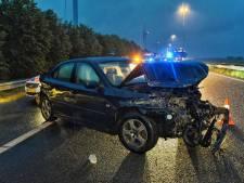 Auto gecrasht op A58 bij Moergestel