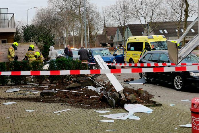 Ravage in Ede na ongeluk op de Molenweg.