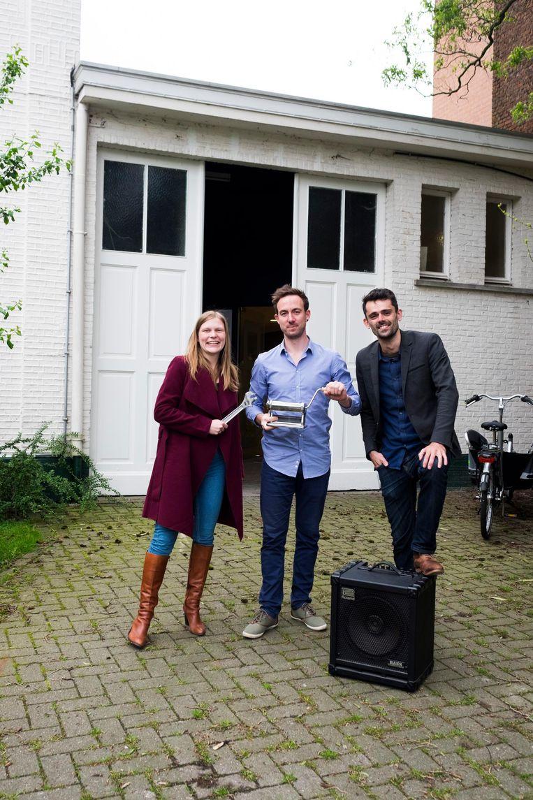 Initiatiefnemers Ine Bosschaerts, Robbyn Sallaerts en Yves Van Laer.