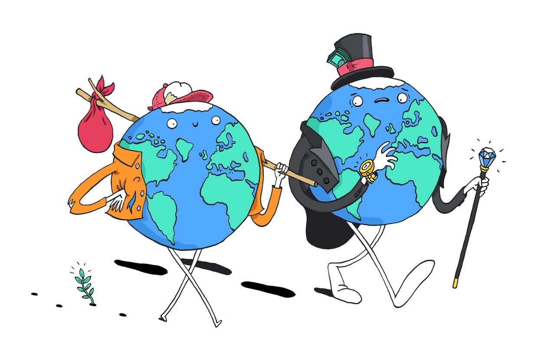 De CO2-uitstoot door consumptie van de 10 procent armsten is bij ons vier keer lager dan die van de 10 procent rijksten. Beeld Sven Franzen