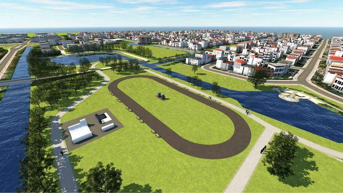 Een impressie van de skeelerbaan in Wageningen.
