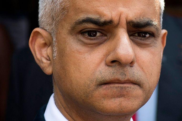De Londense burgemeester Sadiq Khan. Beeld EPA