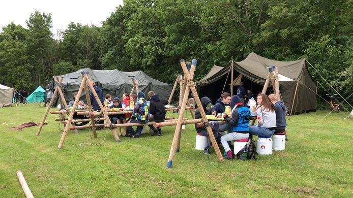 Het scoutingcentrum bij Veere.