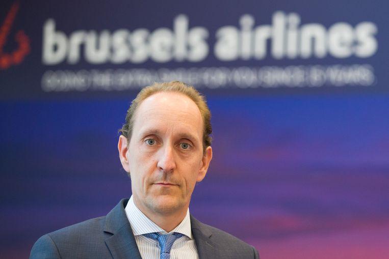 Brussels Airlines-CFO Dieter Vranckx. Beeld BELGA