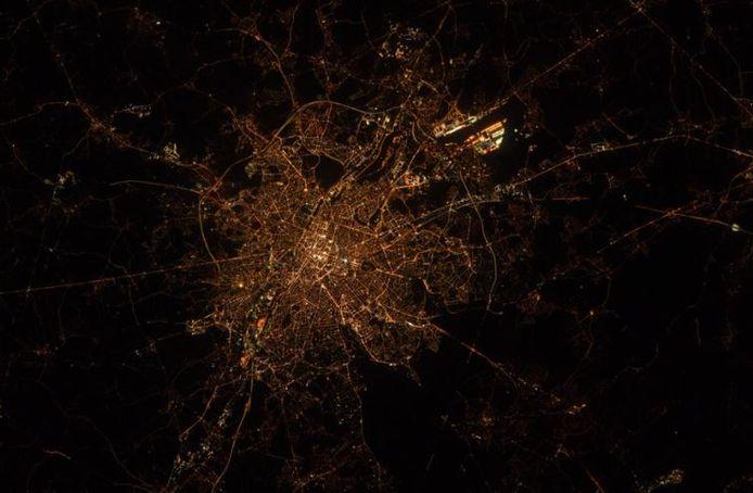 Bruxelles depuis l'espace