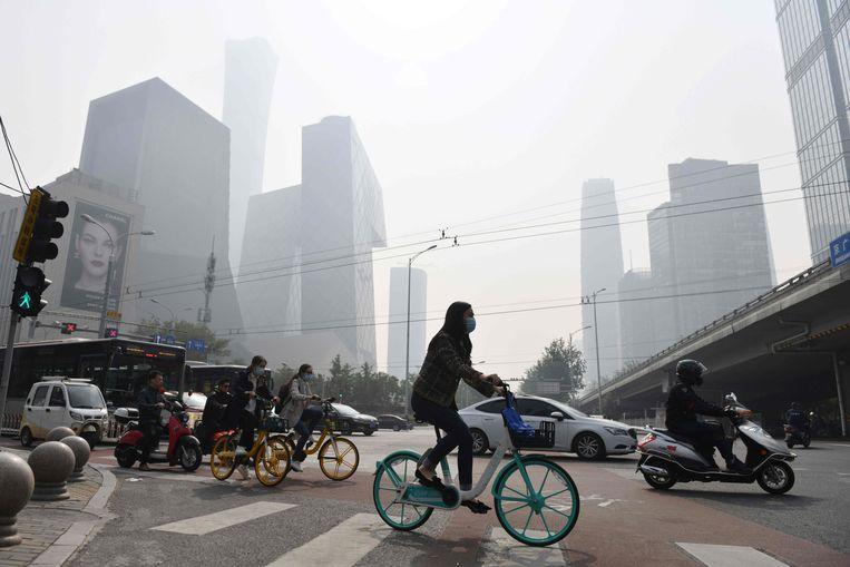 China is een van de meest vervuilende landen ter wereld, maar heeft beloofd zijn uitstoot in 2060 tot nul te brengen. Beeld AFP