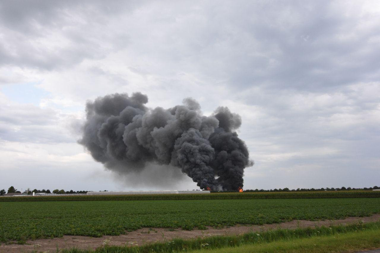 Grote brand in Marknesse
