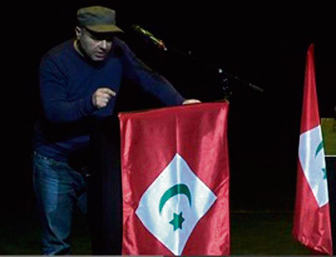 Op een conferentie van Rif-activisten pleitte Saïd C. in Rotterdam voor een onafhankelijke Rif in Marokko. foto Rifonline.net