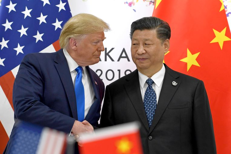 Amerikaans president Trump en Chinees president Xi Jinping.
