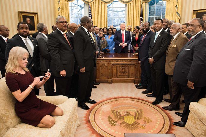 Donald Trump in het Witte Huis