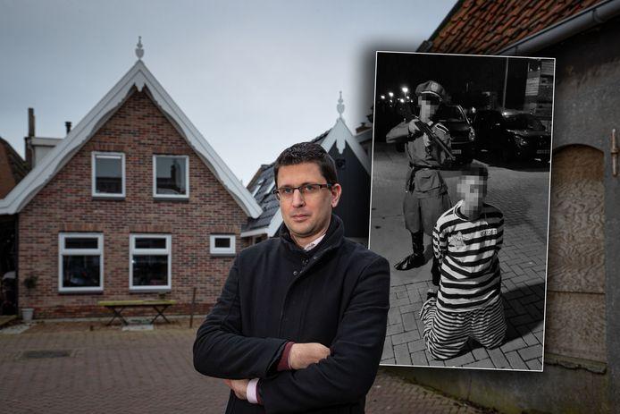 Geschiedenisleraar Arjan Baarssen wil met leerlingen in gesprek over het incident.